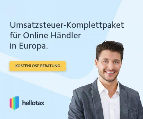 hellotax Ust onlinehaendler europa amazon marketplace